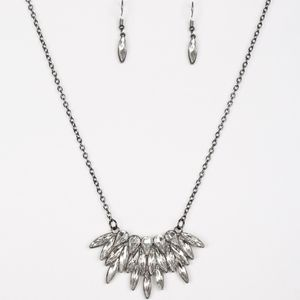 Paparazzi Crowning Moment Black Necklace Set
